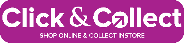 Click and collect. Shop online and collect instore saving you shipping.
